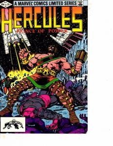 Lot Of 2 Hercules Prince of Power Marvel Comic Books #1 4 ON11