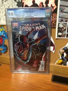 Amazing Spider-Man 1 Cgc 9.8 White Pages Pop Mhan Variant Cover