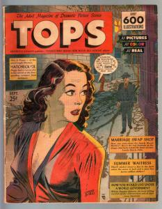 Tops #2 1949 VERY RARE oversized GGA Lev Gleason comic book