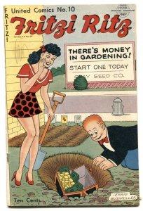 United Comics #10 1950- Fritzi Ritz -Ernie Bushmiller VG