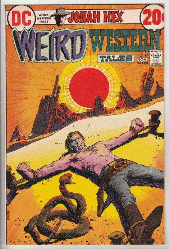 Weird Western Tales #14 (Sep-72) VF+ High-Grade Jonah Hex