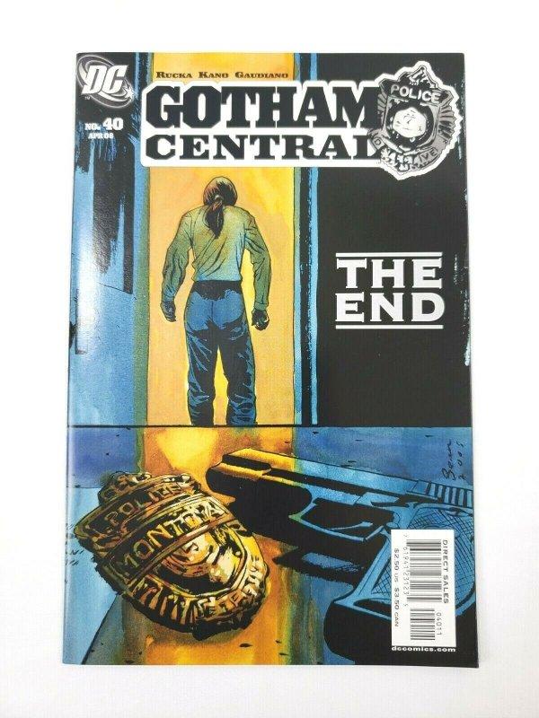 GOTHAM CENTRAL #40 Final Issue DC Comics 2006