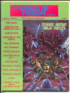 World Of Fandom #9 1990-Toxic Avengers III-TMNT movie info-Akira-G