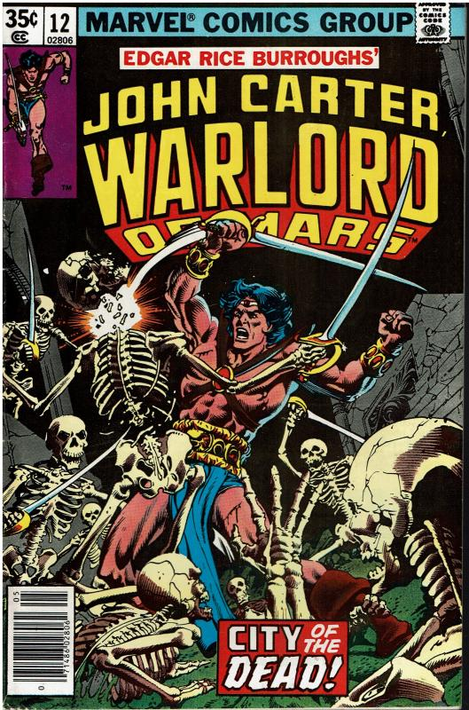 John Carter Warlord of Mars #12, 7.0 or better