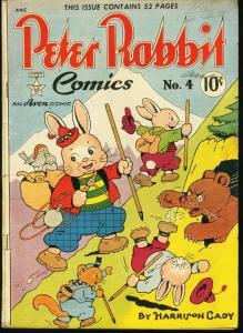 PETER RABBIT COMICS #4-1949-AVON-FUNNY ANIMAL G/VG