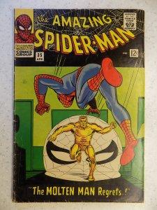 AMAZING SPIDER-MAN # 35 MARVEL ACTION ADVENTURE 2ND MOLTEN MAN DITKO