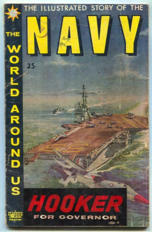 World Around Us #10 1959- Illustrated Story of the Navy G