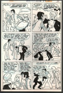 Swing With Scooter Page 3-Original Comic Art-1971-Cookie-Sylvester-Code Seal-FN