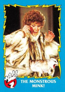 1989 Topps Ghostbusters #65 The Monstrous Mink!