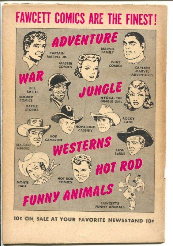 Rocky Lane Western #45-1953-Fawcett- B-Western movie star photo cover-VG+