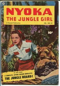 NYOKA THE JUNGLE GIRL #52 1951-FAWCETT-PHOTO COVER-GOOD GIRL ART-fn