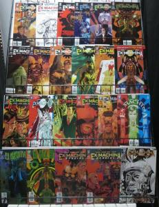 EX MACHINA COLLECTION! 23 ISSUES VF-NM! Brian K. Vaughan/Tony Harris!