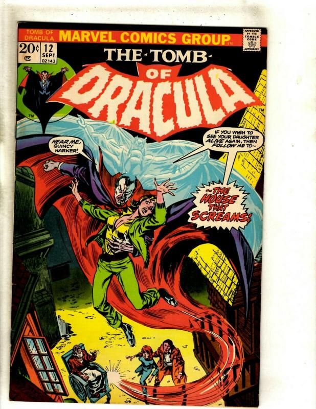 The Tomb Of Dracula # 12 FN/VF Marvel Comic Book Blade Vampire Hunter Undead RS1