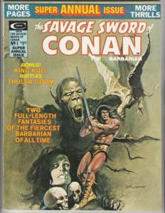 Savage Sword of Conan Super Annual Issue #1 (Jan-75) NM- High-Grade Conan