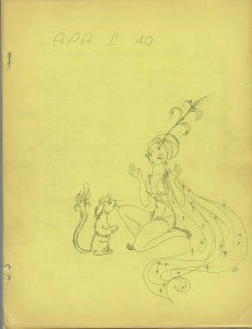 APA-L #40 – FANZINE from the Los Angeles Science Fantasy Society (July, 1965)