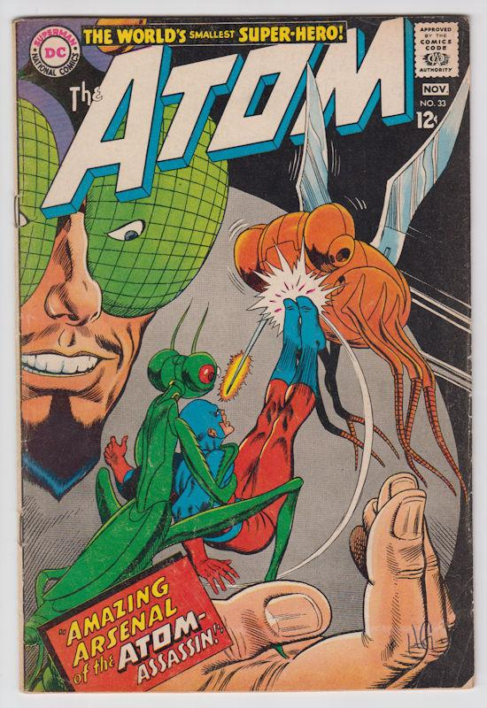 The Atom #33 (Oct-Nov 1967, DC) Fine- condition
