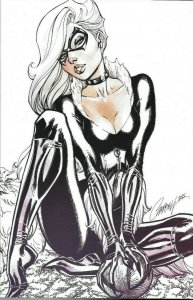 Amazing Spider-Man #14 J.Scott Campbell Variant G BLACK CAT SKETCH NM