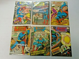 Silver Age Action Comics Lot 12¢ Covers #351-375 12 Diff Avg 4.0 VG (1967-1969)