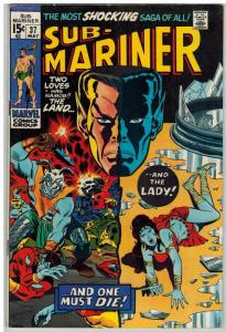 SUBMARINER 37 FN May 1971 DEATH Of LADY DORMA COMICS BOOK