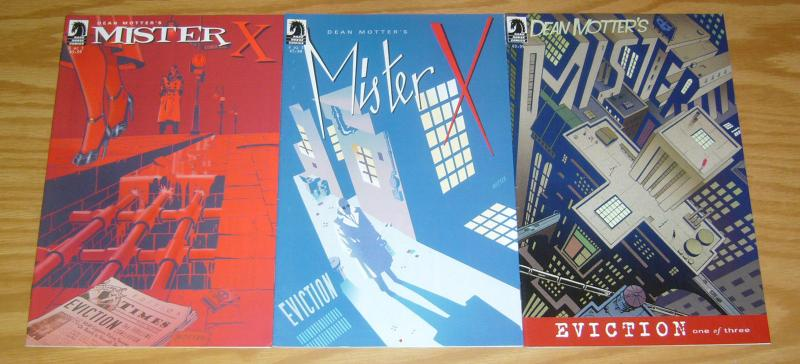 Dean Motter's Mister X: Eviction #1-3 VF complete series - dark horse comics 2
