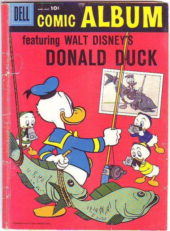 Comic Album #1 (Mar-58) GD- Affordable-Grade Donald Duck, Uncle Scrooge, Huey...