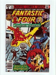 Fantastic Four #207 Amazing Spider-Man Appearance Marvel Comics 1979 NM-