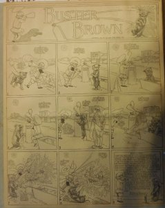 Buster Brown by RF Outcault from ?/1907 Full Size Page Black & White