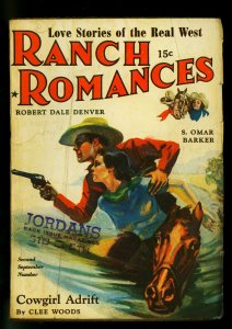 Ranch Romances Pulp 2nd September Number 1941- Clee Woods- VG