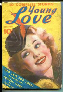 YOUNG LOVE #1 12/1936-DELL-1ST ISSUE-RARE PULP-good