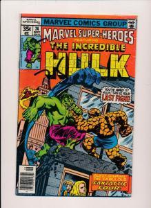 Marvel Super-Heros ft.THE INCREDIBLE HULK #74  FINE (SRU530)