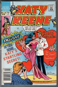 Katy Keene #20 1987-Valentines cover-spicy poses-GGA-fashions-pin-ups-FN