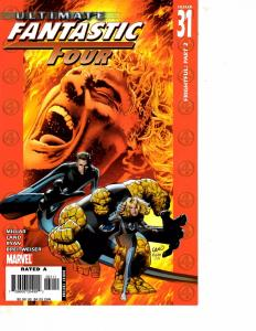 Lot Of 5 Ultimate Fantastic Four Marvel Comic Books #41 42 43 44 45 Thor   BF3
