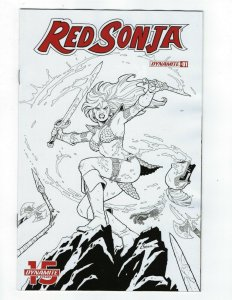 Red Sonja # 1 Amanda Connor B & W Variant 1:20 Cover Dynamite NM