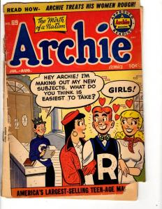 Archie # 69 VG Golden Age Comic Book Betty Veronica Jughead Reggie  JL28