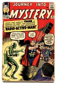 JOURNEY INTO MYSTERY-#93-comic book 1963-THOR Radio-Active Man
