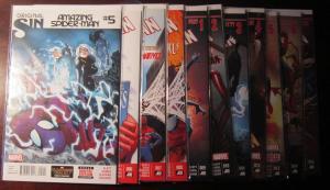 Amazing Spider-Man (2014-15 3rd Series), #11 DIFF, SET:#5-15, VF