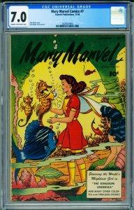 Mary Marvel #6 CGC 7.0 1946- Unique undersea seahorse cover- 2028567004