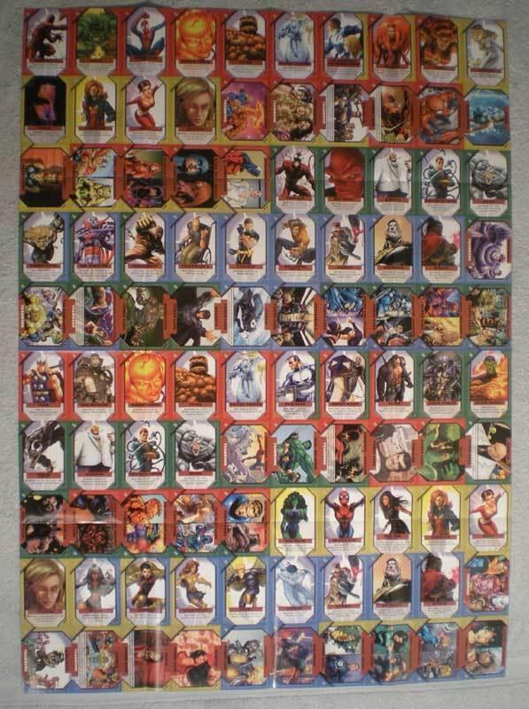MARVEL CARD GAME Promo Poster, 27 x 37, Unused, more in our store
