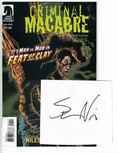 Criminal Macabre: Feat of Clay #1 VF/NM signed by Steve Niles - cal mcdonald