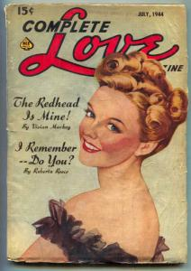 Complete Love Pulp July 1944- Redhead is Mine- All female authors VG