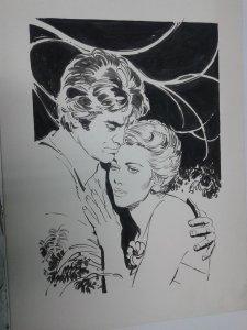 Dibujo Original en blanco y negro de Pepe Gonzalez (dibujante de Vampirella) ...