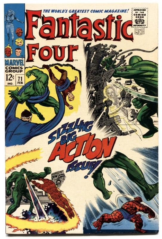 FANTASTIC FOUR #71 1968-SILVER AGE-JACK KIRBY ART-MARVEL VF
