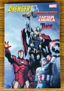 AVENGERS IRON MAN CAPTAIN AMERICA & THOR TPB BOOK Marvel 2010