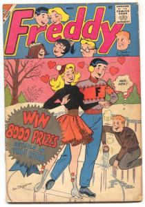 Freddy #16 1959- Ice skating cover- Charlton comics G+