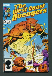 West Coast Avengers #6   9.2 NM-   March 1986