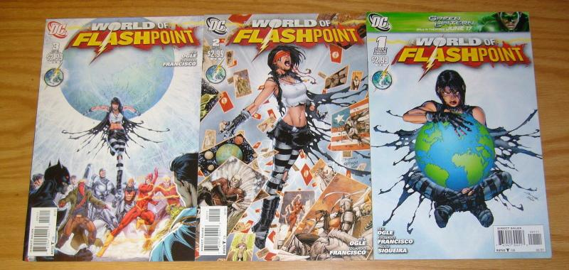 World of Flashpoint #1-3 VF/NM complete series - brett booth - dc comics set lot