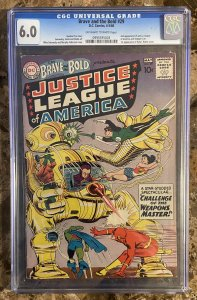 Brave and the Bold 29 CGC 6.0 OW Silver Key DC 2nd App Justice League