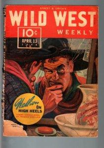 WILD WEST WEEKLY 4/13/1940-WESTERN PULP-SLEEPY SLOANE G-