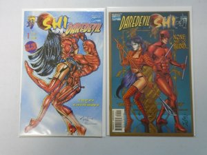 Daredevil and Shi lot 2 different issues 8.0 VF (1997 Crusade/Marvel)