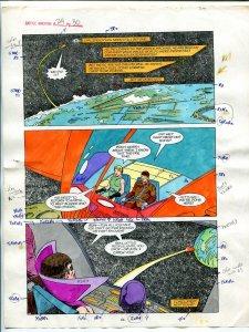 Justice Machine #24 Page #30 1988 Original Color Guide